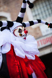 Beautiful harlequin mmask, Piazza San Marco, Venice, Italy Royalty Free Stock Image