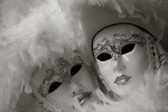Black and white Carnival mask, Piazza San Marco, Venice, Italy Stock Image