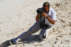 Unidentified photographer from Royalton All-inclusive Resort and Casino at the Bavaro beach Stock Photo