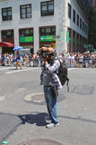 Unidentified photographer taking pictures during  LGBT Pride Parade in New York Stock Image