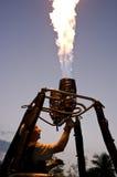 Unidentified pilot testing burner Stock Photos