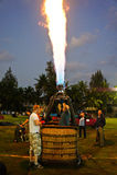 Unidentified pilot testing burner Royalty Free Stock Photo