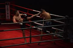 Unidentified players in Combat Fight Night Royalty Free Stock Photos