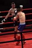 Unidentified players in Combat Fight Night Royalty Free Stock Images
