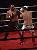 Unidentified players in Combat Fight Night Royalty Free Stock Image