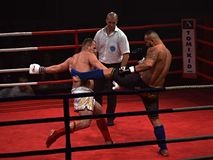 Free Unidentified Players In Combat Fight Night Royalty Free Stock Image - 49070466