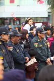 Unidentified policemen at the Wong Parade Royalty Free Stock Photo