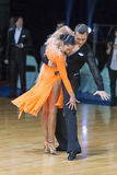 Unidentified Professional Dance Couple Performs Adults Latin-American Program on WDSF Minsk Open Dance Festival-2017 Stock Photos