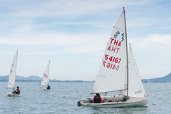 Unidentified racer in Top of the Gulf Regatta event Stock Image