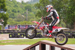 Unidentified racers Honda CRF 250 Stock Photo