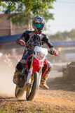 Unidentified racers in Super Moto Royalty Free Stock Photos