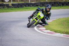 Unidentified racers in Super Moto stock photography
