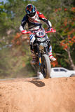Unidentified racers in Super Moto Royalty Free Stock Photography
