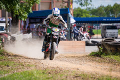 Unidentified racers in Super Moto Stock Images