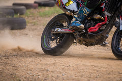 Unidentified racers in Super Moto Royalty Free Stock Image