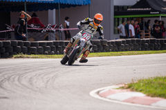 Unidentified racers in Super Moto Stock Photo