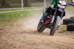 Unidentified racers in Super Moto Stock Photos