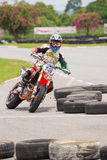 Unidentified racers in Super Moto Royalty Free Stock Photo