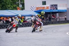 Unidentified racers in Super Moto Royalty Free Stock Images