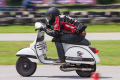 Unidentified racers Vespa Piaggio Stock Photos