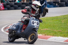 Unidentified racers Vespa Piaggio Royalty Free Stock Images