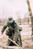 Unidentified Re-enactor Dressed As A German Infantry Soldier Of Stock Images