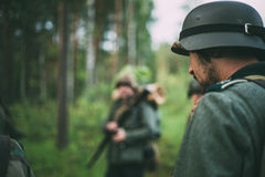 Unidentified re-enactor dressed as German soldier Royalty Free Stock Photography