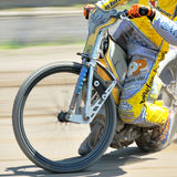 Unidentified rider. BRAILA, ROMANIA - May 11: Unidentified rider participate at National Championship of Dirt Track on May 11, 2014 on Braila, Romania Stock Image