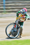 Unidentified rider. BRAILA, ROMANIA - May 11: Unidentified rider participate at National Championship of Dirt Track on May 11, 2014 on Braila, Romania Royalty Free Stock Photo