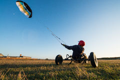 Unidentified rider on a kitebuggy Stock Photography