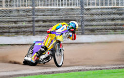 Unidentified rider participate at National Championship of Dirt Track. BRAILA, ROMANIA - May 31: Unidentified rider participate at National Championship of Dirt Royalty Free Stock Images