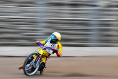 Unidentified rider participate at National Championship of Dirt Track. BRAILA, ROMANIA - May 31: Unidentified rider participate at National Championship of Dirt Royalty Free Stock Image