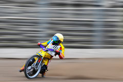 Unidentified rider participate at National Championship of Dirt Track. BRAILA, ROMANIA - May 31: Unidentified rider participate at National Championship of Dirt royalty free stock photo