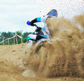 An unidentified rider participates in the World Endurocross Championship Royalty Free Stock Photo