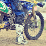 An unidentified rider participates in World Endurocross Championship Royalty Free Stock Photo