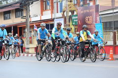 Unidentified riders in action during Bike for Mom event Royalty Free Stock Image