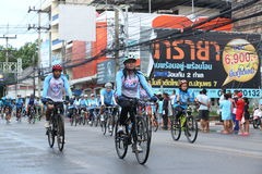 Unidentified riders in action during Bike for Mom event Stock Image
