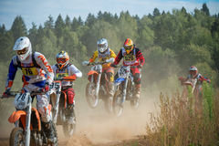An unidentified riders Stock Photography