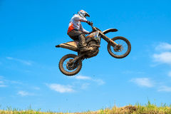 Unidentified riders participate at Endurocross Stock Photo