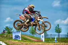 Unidentified riders participate at Endurocross Royalty Free Stock Image