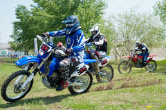 Unidentified riders participate at Endurocross Stock Photography