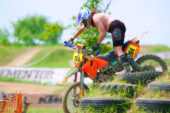 Unidentified riders participate at Endurocross Royalty Free Stock Images