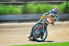 Unidentified riders participate at National Championship of Dirt Track Royalty Free Stock Images