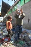 Unidentified Roma kids playing  Stock Photo