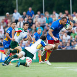Unidentified rugby players Royalty Free Stock Image