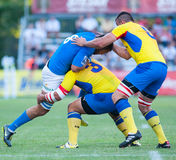 Unidentified rugby players Royalty Free Stock Photography