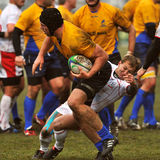 Unidentified rugby players Stock Photos