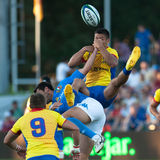 Unidentified rugby players during Romania vs Italy Stock Images
