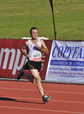 Unidentified runner in the half marathon Córdoba Royalty Free Stock Photo