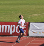 Unidentified runner in thein the last sprint Royalty Free Stock Photo